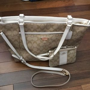 Coach bag with wallet and crossbody bag